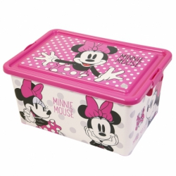 CONTENEDOR 23 L | MINNIE MOUSE GLAM DOTS